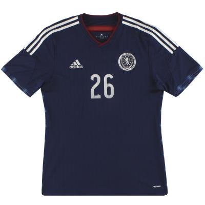 2014-15 Scotland adidas adizero Player Issue Home Shirt #26 *As New* M