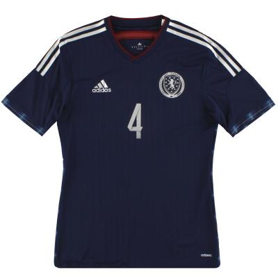 2014-15 Scotland adidas adizero Player Issue Home Shirt #4 *As New* M