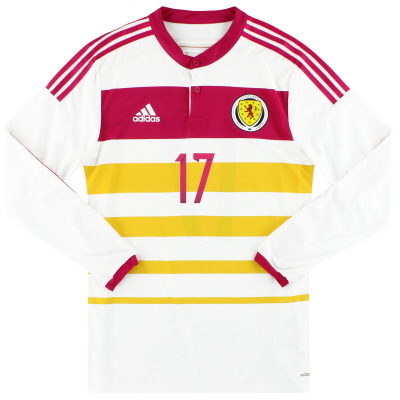 2014-15 Scotland adidas Player Issue adizero Away Shirt #17 L/S *As New*