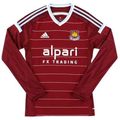 2014-15 West Ham adidas Home Shirt L/S *Mint* S