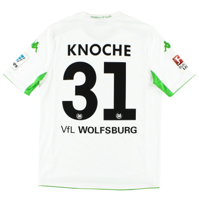 2014-15 Wolfsburg Away Shirt Knoche #31 *Mint* L