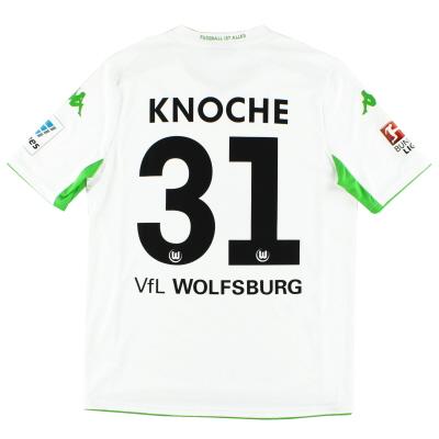 2014-15 Wolfsburg Away Shirt Knoche #31 *Mint* L