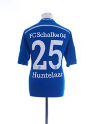 2014-16 Schalke Home Shirt Huntelaar #25 *Mint* M