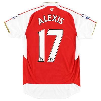 2015-16 Arsenal Home Shirt Alexis #17 S