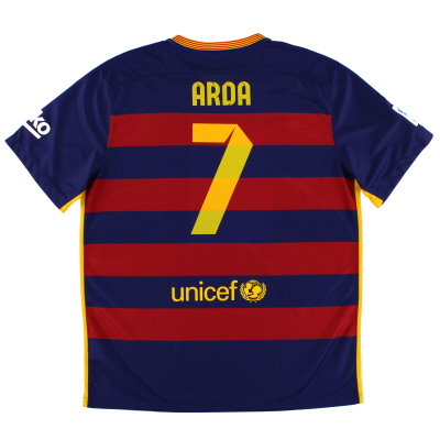 2015-16 Barcelona Home Shirt Arda #7 *Mint* XL