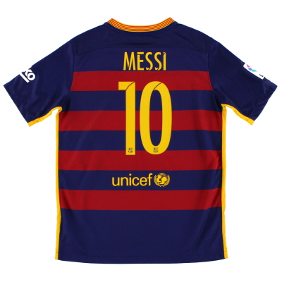 2015-16 Barcelona Home Shirt Messi #10 XL.Boys