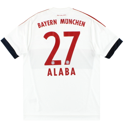 2015-16 Bayern Munich adidas Away Shirt Alaba #27 L