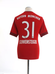 2015-16 Bayern Munich Home Shirt Schweinsteiger #31 M