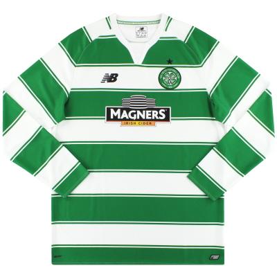 2015-16 Celtic New Balance Home Shirt L/S *Mint* XL
