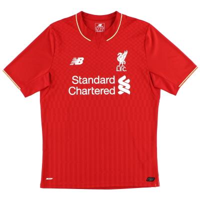 2015-16 Liverpool New Balance Home Shirt *Mint* M