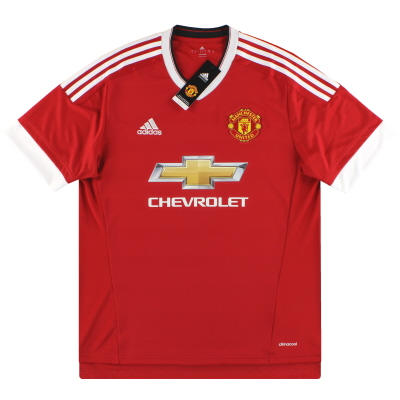 2015-16 Manchester United adidas Home Shirt *BNIB* XL.Boys