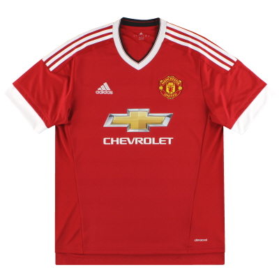 2015-16 Manchester United adidas Home Shirt S