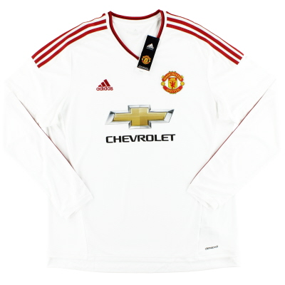 2015-16 Manchester United adidas Away Shirt L/S *w/tags* XL