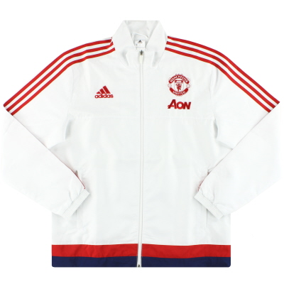 2015-16 Manchester United adidas Presentation Jacket *Mint* L