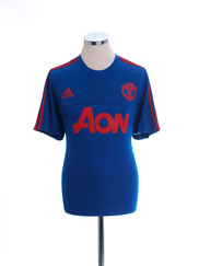 2015-16 Manchester United adizero Training Shirt L