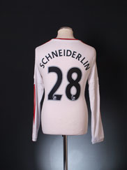 2015-16 Manchester United Away Shirt Schneiderlin #28 L/S S