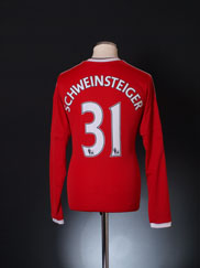 2015-16 Manchester United Home Shirt Schweinsteiger #31 M