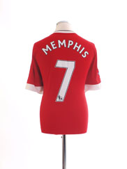 2015-16 Manchester United Home Shirt Memphis #7 XL