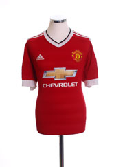 2015-16 Manchester United Home Shirt *Mint* L
