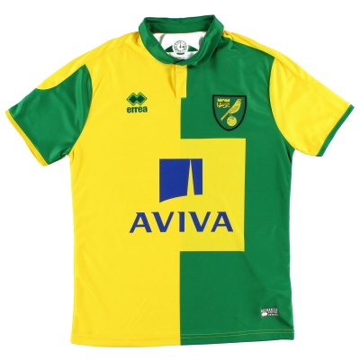 2015-16 Norwich City Home Shirt S