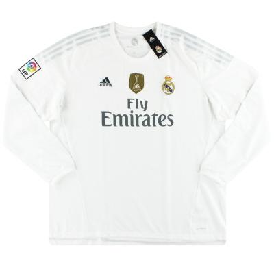 2015-16 Real Madrid adidas Home Shirt L/S *w/tags* XXXL