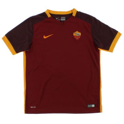 2015-16 Roma Home Shirt *Mint* L