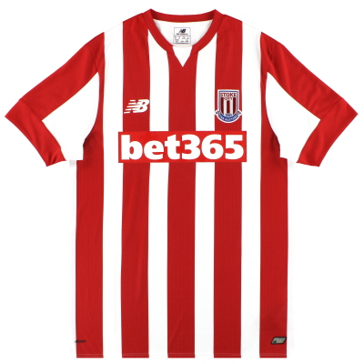 2015-16 Stoke New Balance Home Shirt *Mint* M