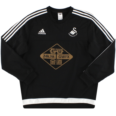 2015-16 Swansea City adidas Sweatshirt XL