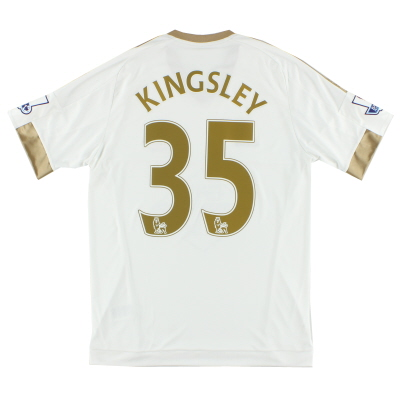 2015-16 Swansea City Home Shirt Kingsley #35 M