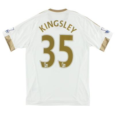 2015-16 Swansea City adidas Home Shirt Kingsley #35 M