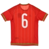 2015-16 Wales Match Issue Home Shirt #6 *Mint* S