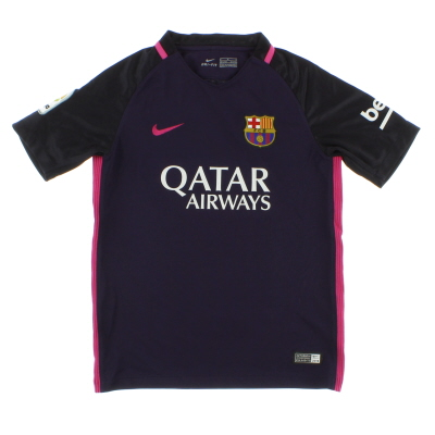 2016-17 Barcelona Away Shirt M.Boys