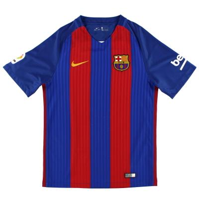2016-17 Barcelona Nike Home Shirt M