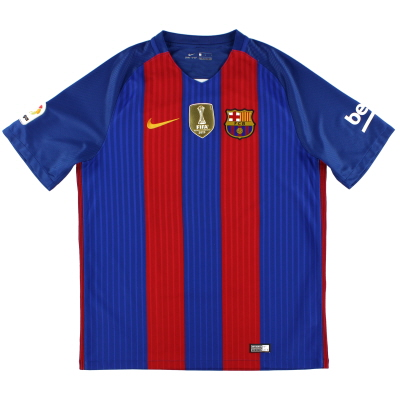 2016-17 Barcelona Home Shirt L