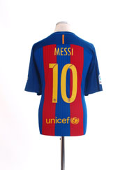2016-17 Barcelona Home Shirt Messi #10 *As New* XL