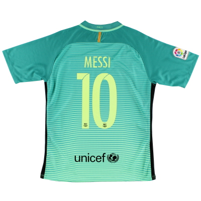 2016-17 Barcelona Third Shirt Messi #10 M
