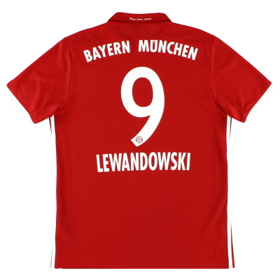 2016-17 Bayern Munich Home Shirt Lewandowski #9 M