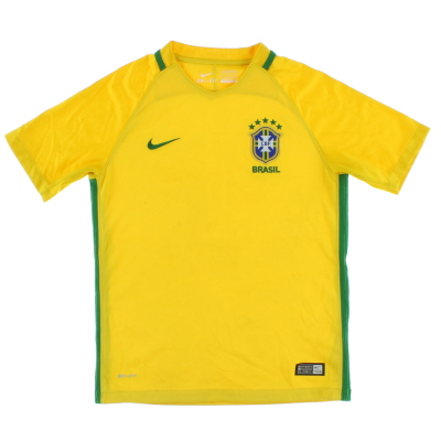 2016-17 Brazil Home Shirt M.Boys