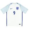 2016-17 England Home Shirt Vardy #9 S