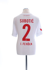 2016-17 FC Koln Home Shirt Subotic #2 *Mint* L