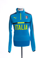 2016-17 Italy 1/4 Zip Light Blue Training Top *BNIB*