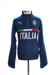 2016-17 Italy 1/4 Zip Navy Blue Training Top *BNIB*