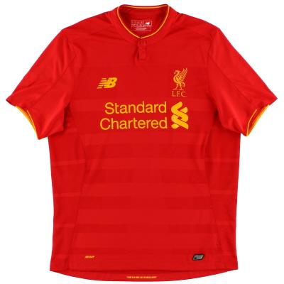 2016-17 Liverpool New Balance Home Shirt S