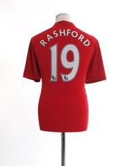 2016-17 Manchester United Home Shirt Rashford #19 L