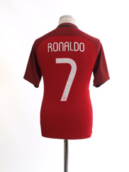 2016-17 Portugal Home Shirt Ronaldo #7 *Mint* S