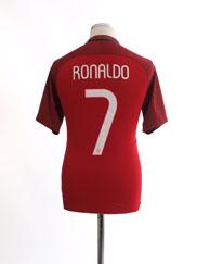 2016-17 Portugal Home Shirt Ronaldo #7 *Mint* S