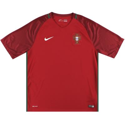 2016-17 Portugal Nike Home Shirt *Mint* XL
