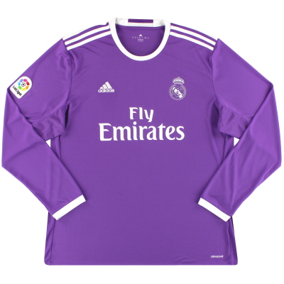 2016-17 Real Madrid adidas Away Shirt L/S *Mint* XL