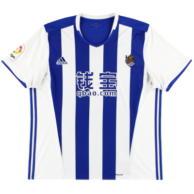 2016-17 Real Sociedad adidas Home Shirt XXL