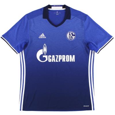 2016-17 Schalke adidas Home Shirt *Mint* L